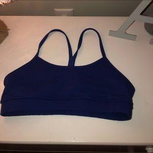 Navy blue Flow Y Lululemon sports bra
